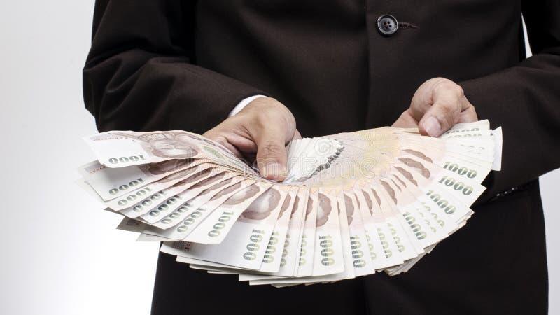 Cuenta de dinero del billete de banco de Tailandia foto de archivo