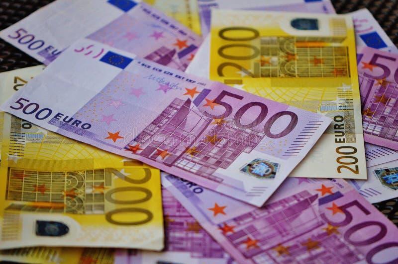 Cuenta del EURO 500 foto de archivo libre de regalías