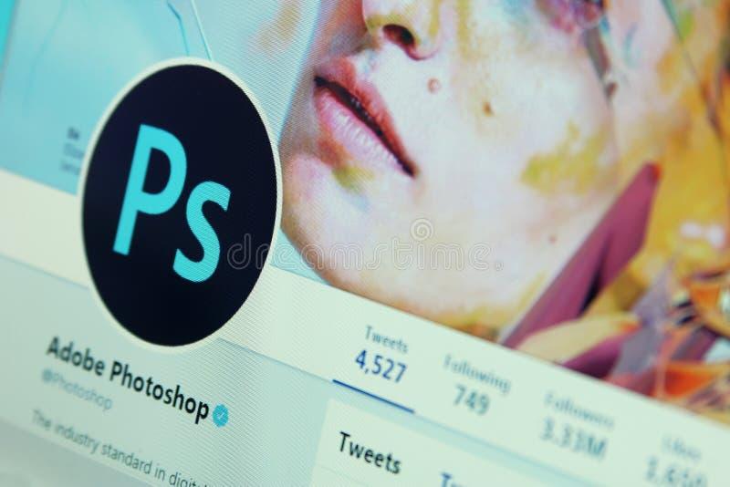 Cuenta del gorjeo de Photoshop imagen de archivo