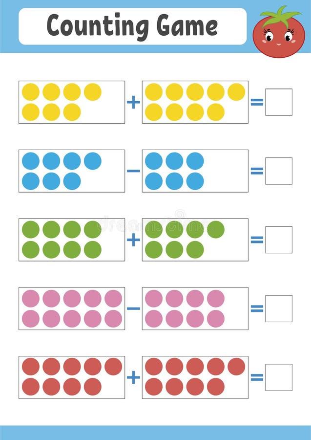 cuenta del juego para los cabritos ilustración del vector