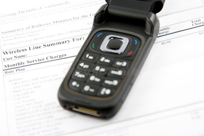 Cuenta del teléfono celular
