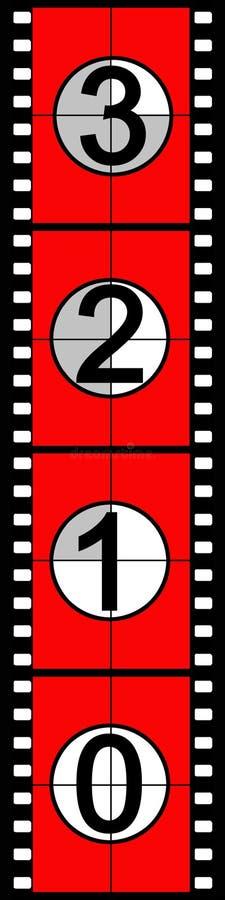 Cuenta descendiente de la película stock de ilustración