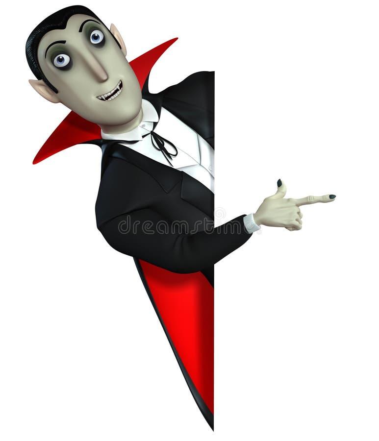 Cuenta Dracula stock de ilustración