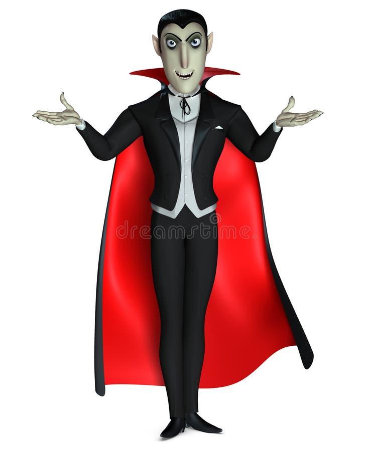 Cuenta Dracula ilustración del vector