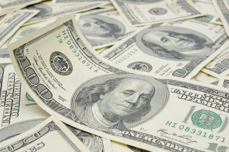 Cuenta ondulada de dólar americano imágenes de archivo libres de regalías
