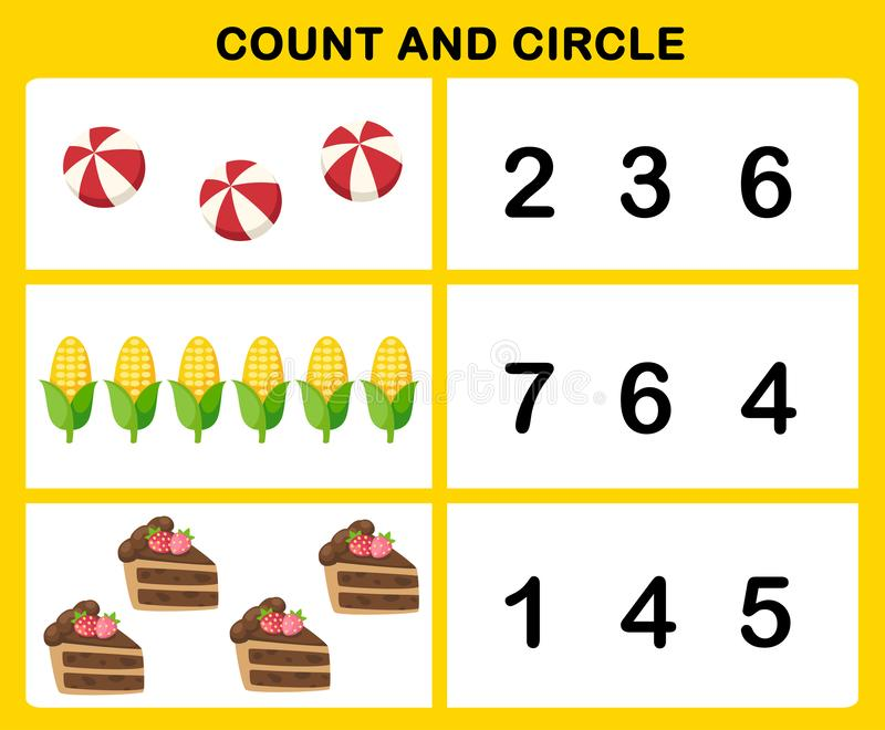 Cuenta y círculo ilustración del vector