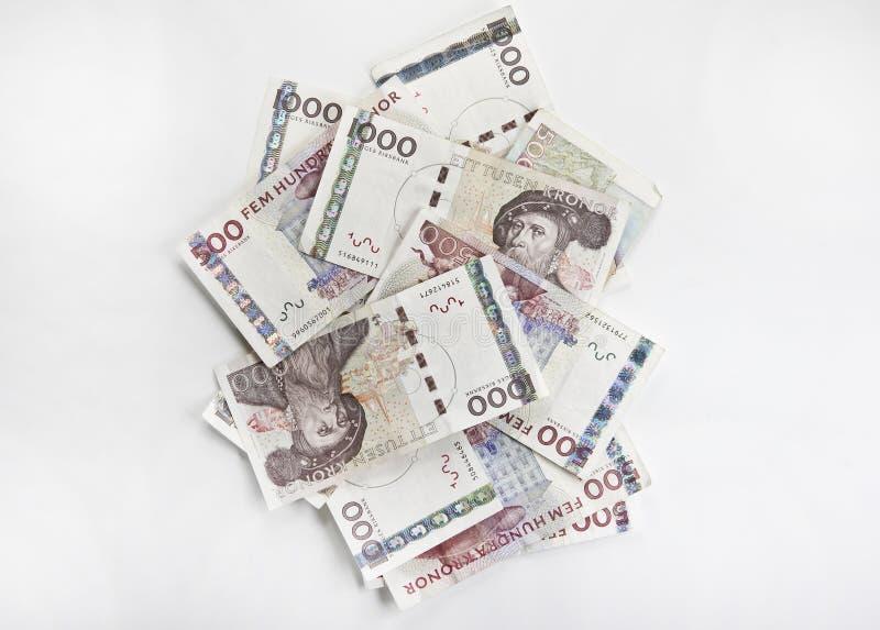 Cuentas de dinero suecas imagen de archivo