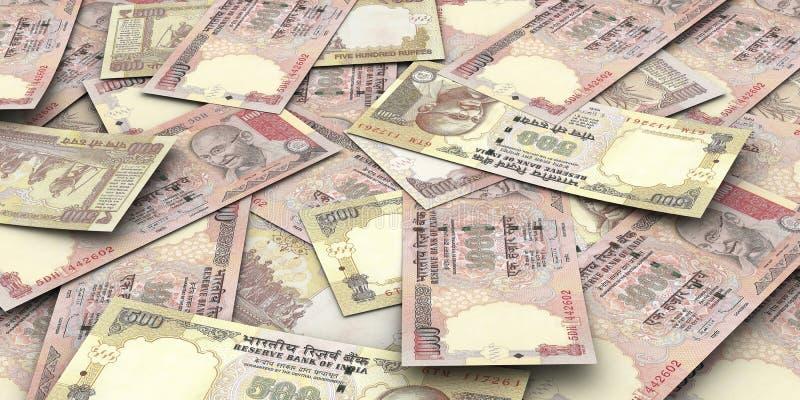 Cuentas de la rupia ilustración del vector