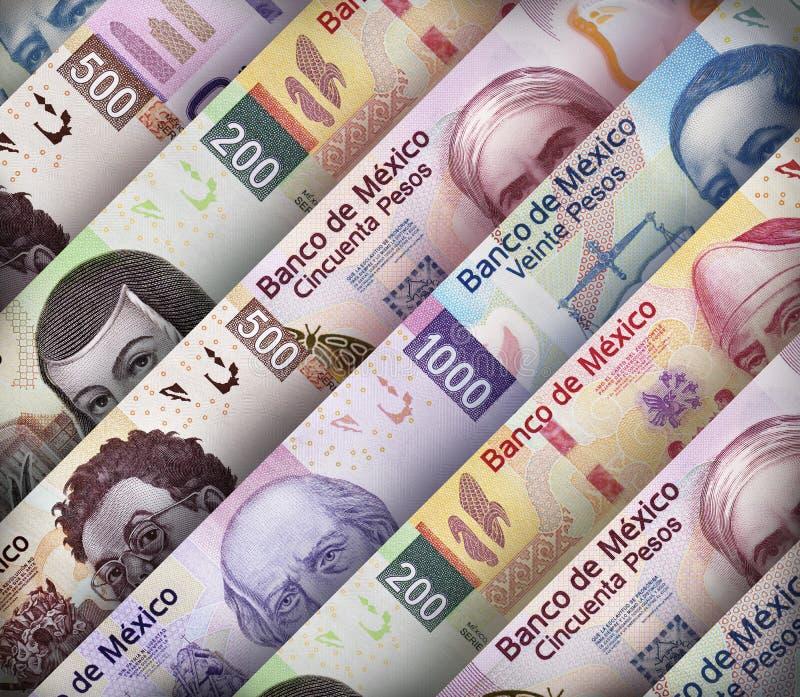 Cuentas del papel de Peso mexicano imagen de archivo libre de regalías