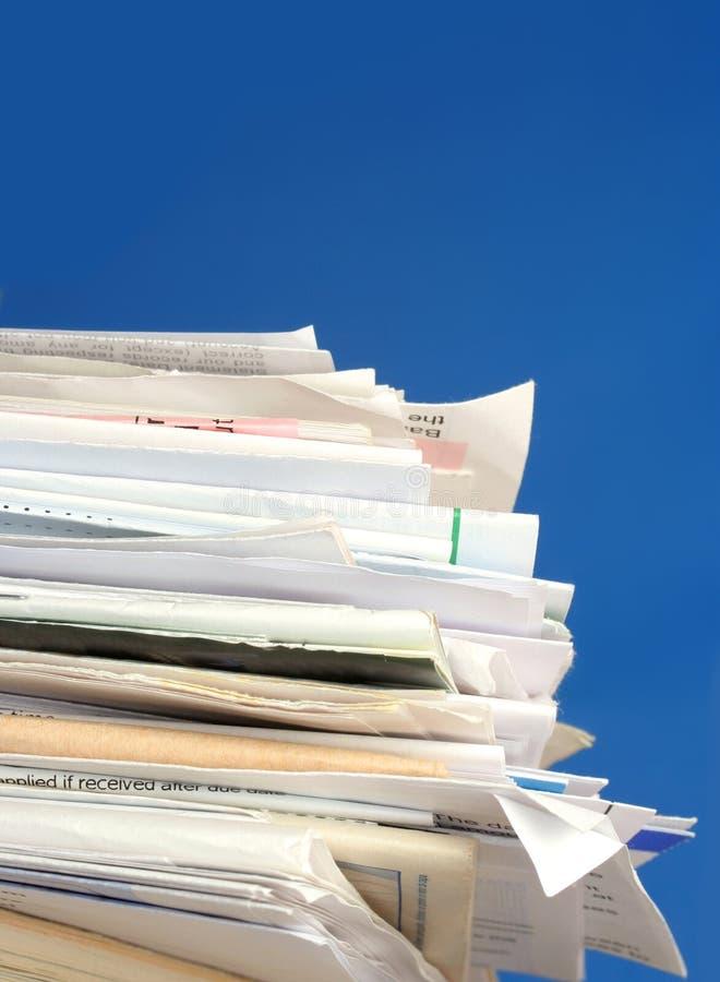 Cuentas empiladas foto de archivo libre de regalías