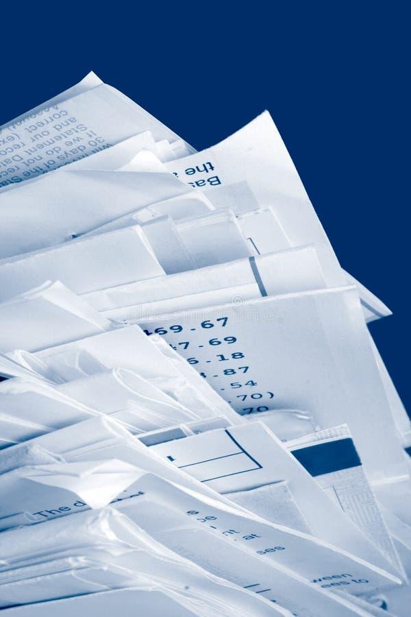 Cuentas empiladas imagen de archivo libre de regalías