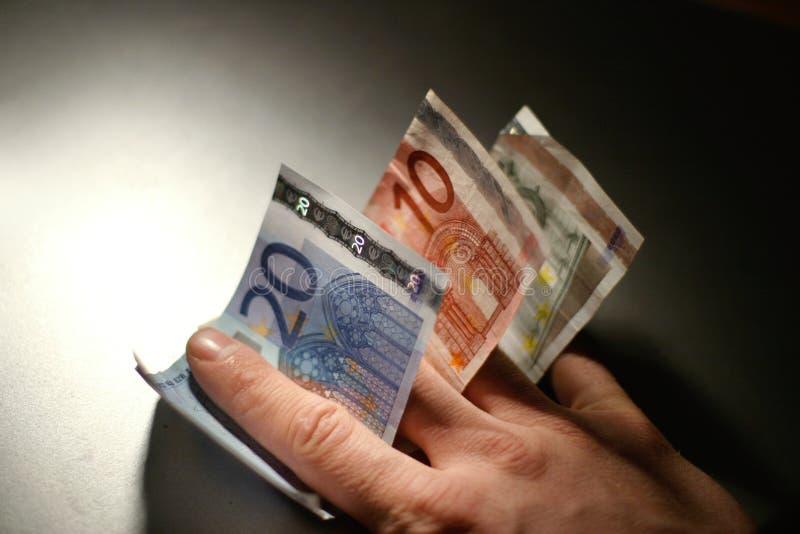 Cuentas euro imágenes de archivo libres de regalías