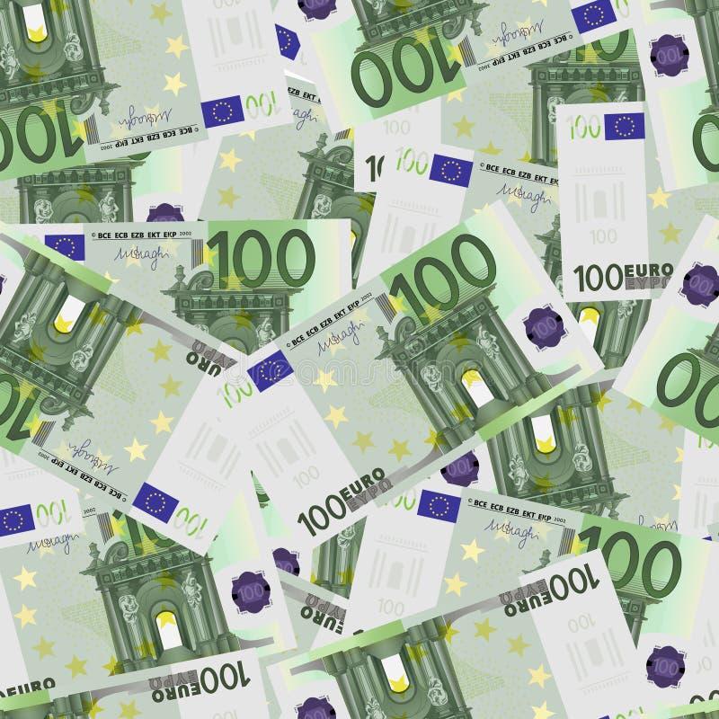 100 cuentas euro inconsútiles libre illustration