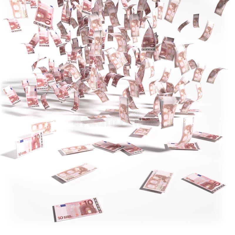 Cuentas a partir de 10 notas euro ilustración del vector