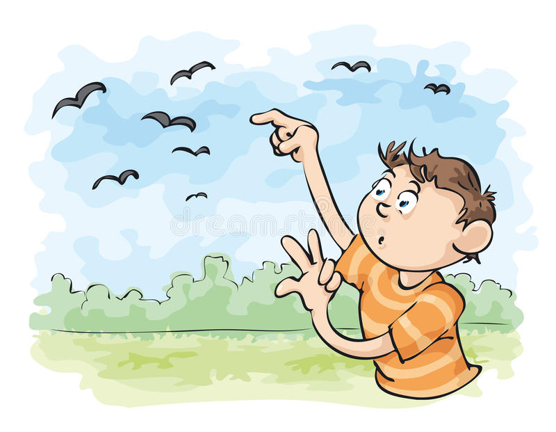 Cuente los cuervos ilustración del vector