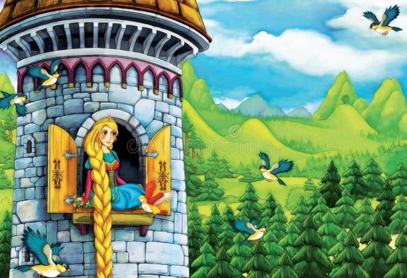 Cuento de hadas de la historieta - ejemplo para los niños ilustración del vector