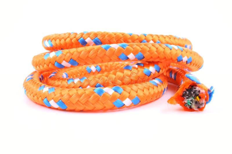 Cuerda anaranjada fotografía de archivo libre de regalías