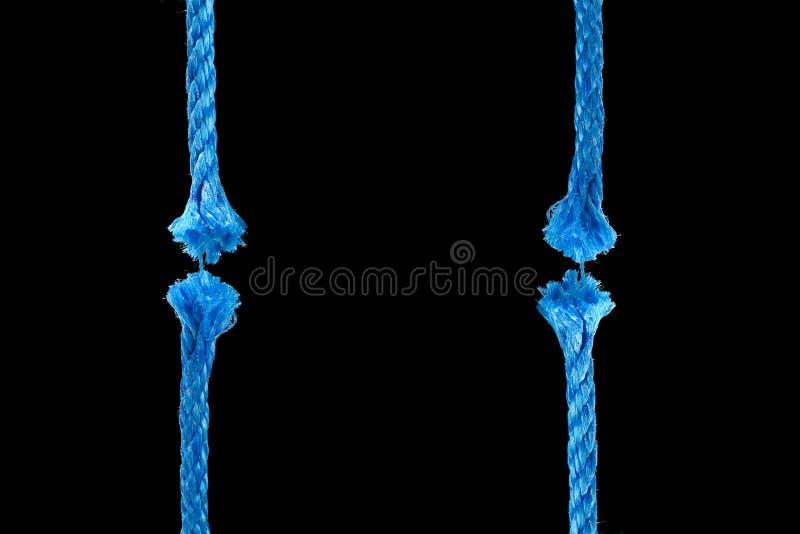 Cuerda azul del corte imágenes de archivo libres de regalías