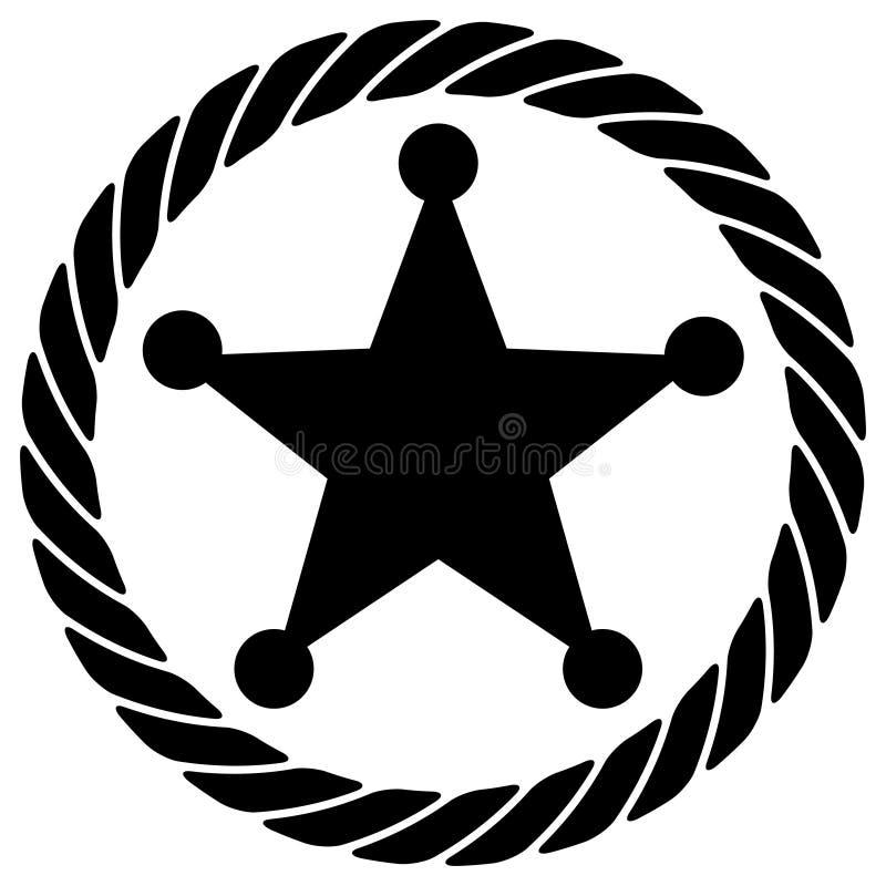 Cuerda con la estrella stock de ilustración
