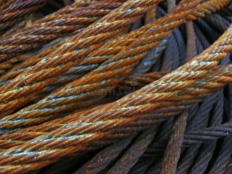 Cuerda de acero imagen de archivo libre de regalías