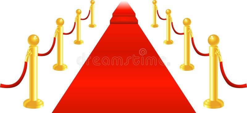 Cuerda de la alfombra roja y del terciopelo ilustración del vector