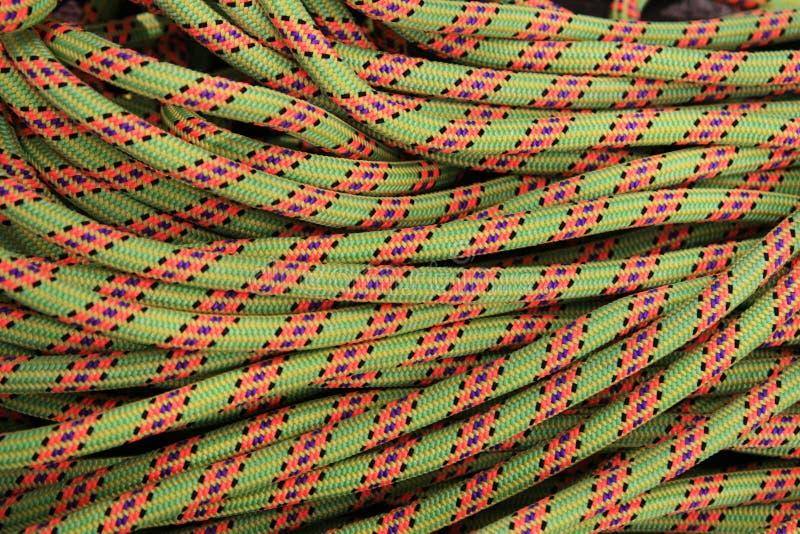 Cuerda de la escalada foto de archivo