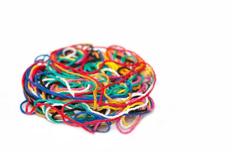 Cuerda de rosca multicolora imagen de archivo