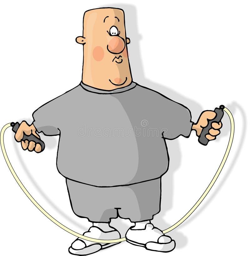 Cuerda de salto stock de ilustración