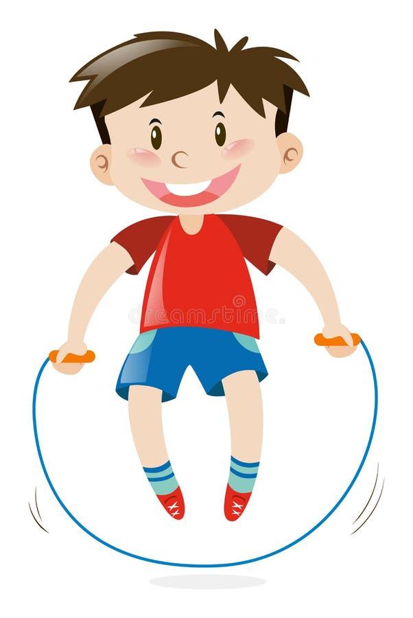 Cuerda de salto del muchacho solamente ilustración del vector