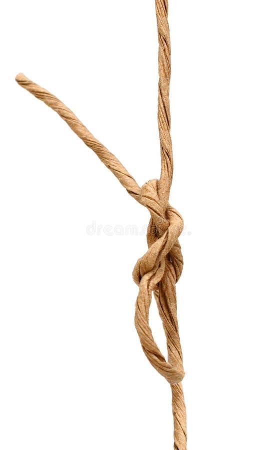 Cuerda del nudo fotografía de archivo
