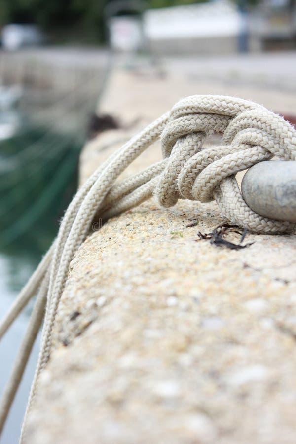 Cuerda del pescador fotografía de archivo libre de regalías