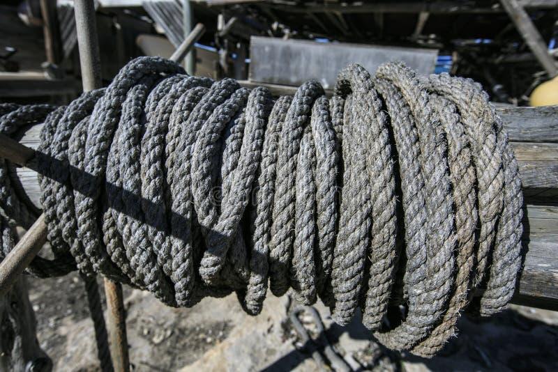 Cuerda del pescador imagenes de archivo