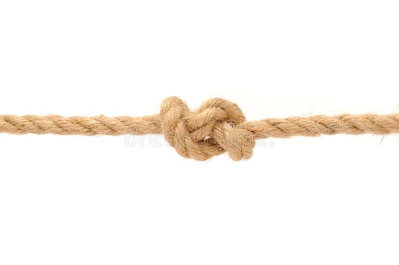 Cuerda del yute con el nudo foto de archivo libre de regalías