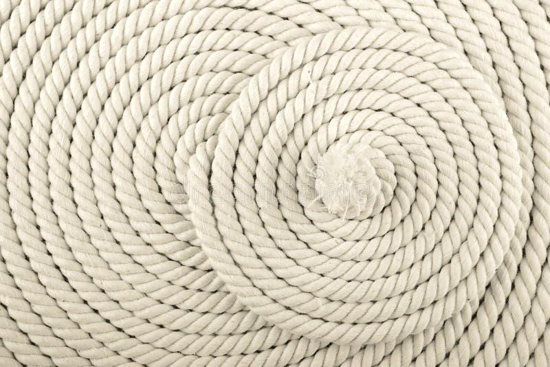 Cuerda en espiral blanca imagen de archivo