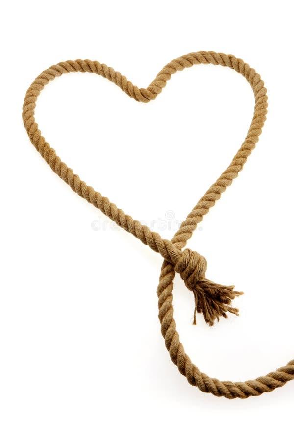 Cuerda en forma de corazón imagenes de archivo