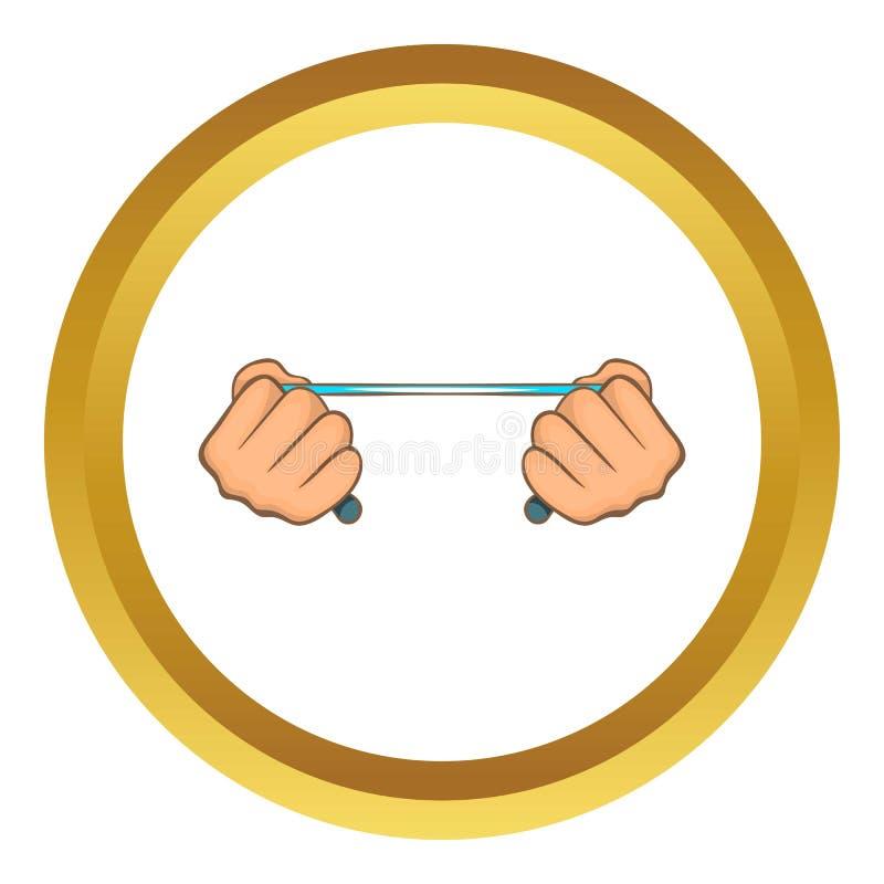 Cuerda en icono de las manos libre illustration