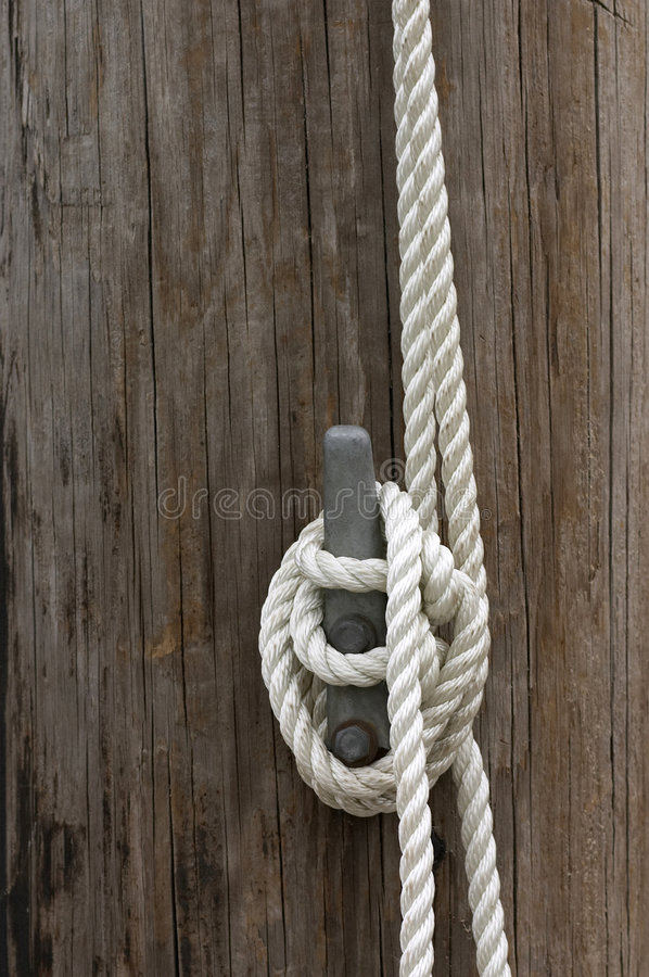 Cuerda en la grapa foto de archivo