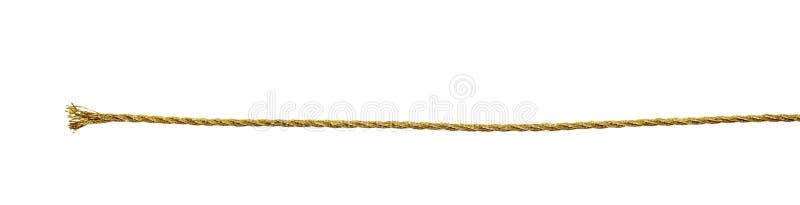 Cuerda metálica de oro fotografía de archivo