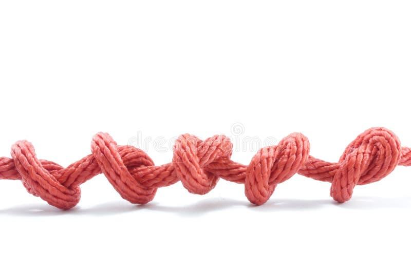 Cuerda o nudo imagen de archivo