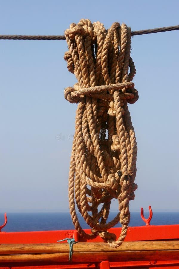 Cuerda para el barco. imágenes de archivo libres de regalías