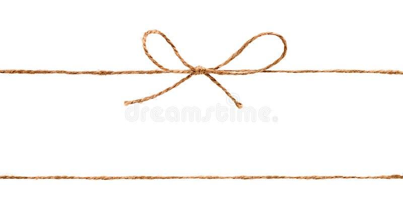 Cuerda y arco aislados en el fondo blanco imágenes de archivo libres de regalías
