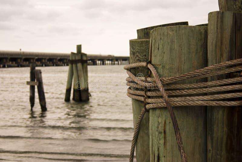 Cuerda y madera fotos de archivo libres de regalías