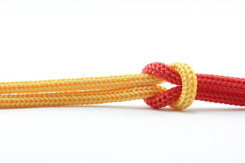 Cuerda y nudo fotos de archivo