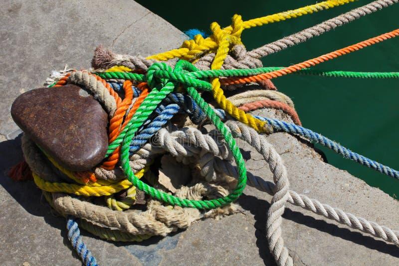 Cuerdas de barco fotografía de archivo