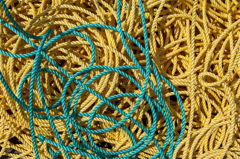Cuerdas de la pesca fotos de archivo libres de regalías