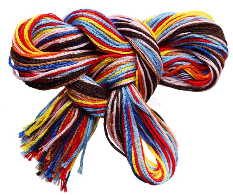 Cuerdas de rosca del bordado fotografía de archivo libre de regalías