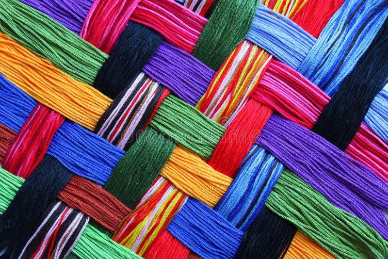 Cuerdas de rosca del bordado fotografía de archivo