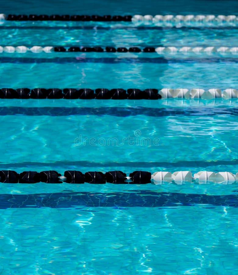 Cuerdas del carril de la piscina imágenes de archivo libres de regalías
