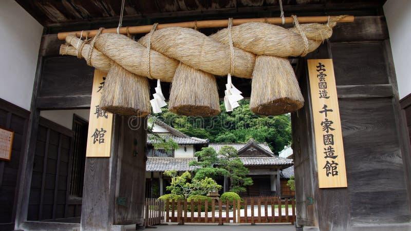 Cuerdas del gigante del taisha de Izumo fotos de archivo