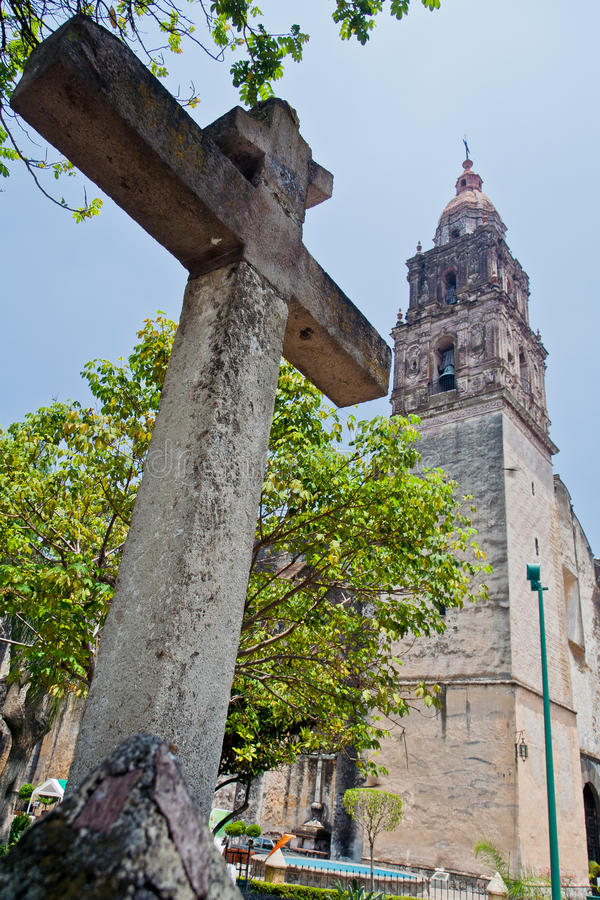Download Cuernavaca Cathedral stock image. Image of religion, imposing - 21404017